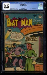 Batman #79 CGC VG- 3.5 Cream To Off White
