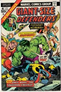 Giant Size Defenders # 4 Hulk,Dr. Strange,Namor,Valkyrie,Nighthawk !