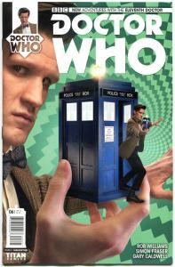 DOCTOR WHO #6 B, NM, 11th, Tardis, 2014, Titan, 1st, more DW in store, Sci-fi