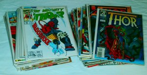 Thor V1 #451-463,476-479,488-491,497-500 ++ Thunderstrike, comic book lot of 46