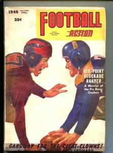 FOOTBALL ACTION-FALL 1946-PULP-OLD HELMETS-GEORGE GROSS COVER-vg