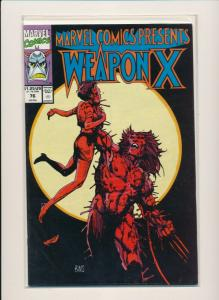 Marvel Comics WEAPON X #76 1991 FINE/VERY FINE (PF594)