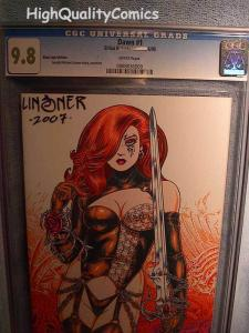 DAWN : BLACK LIGHT ED #1, CGC = 9.8, NM/M, Signed Linsner, more CGC in store