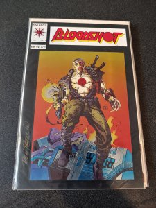 BLOODSHOT #1 SIGNED BY DON PERLMAN WITH COA CHROMIUM COVER