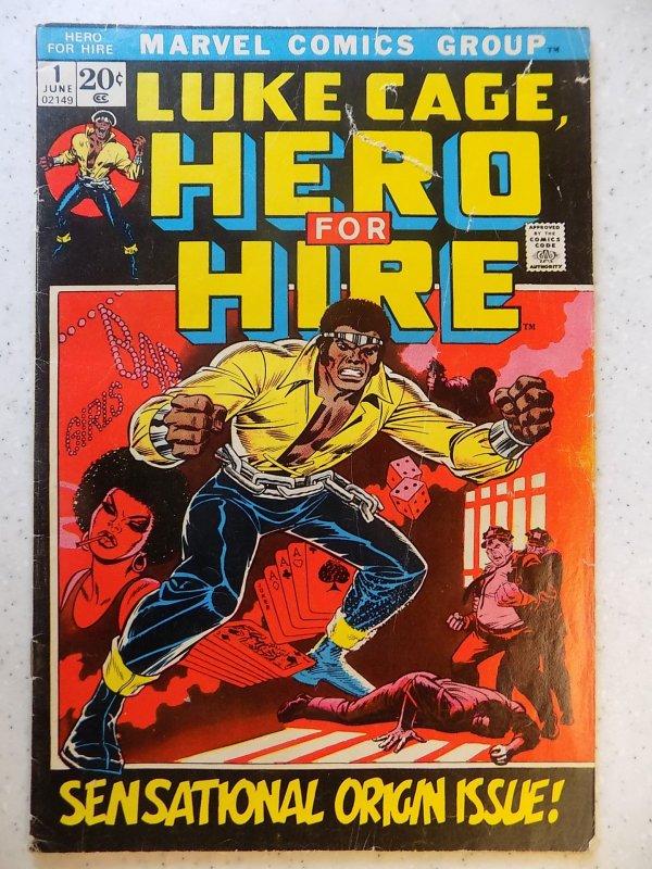 LUKE CAGE HERO FOR HIRE # 1 MARVEL BRONZE HOT 1ST APPEARANCE ORIGIN