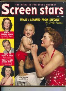 Screen Stars-Jane Russell-Ester Williams-Alan Ladd-Robert Taylor-Dec-1950