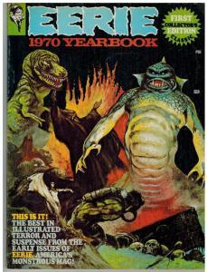 EERIE YRBK 1970 VG-F FRAZETTA COVER COLLAGE,#1-12 REPRI COMICS BOOK