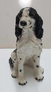 Figura de perro resina: Springer Spaniel ingles 9x6 cm