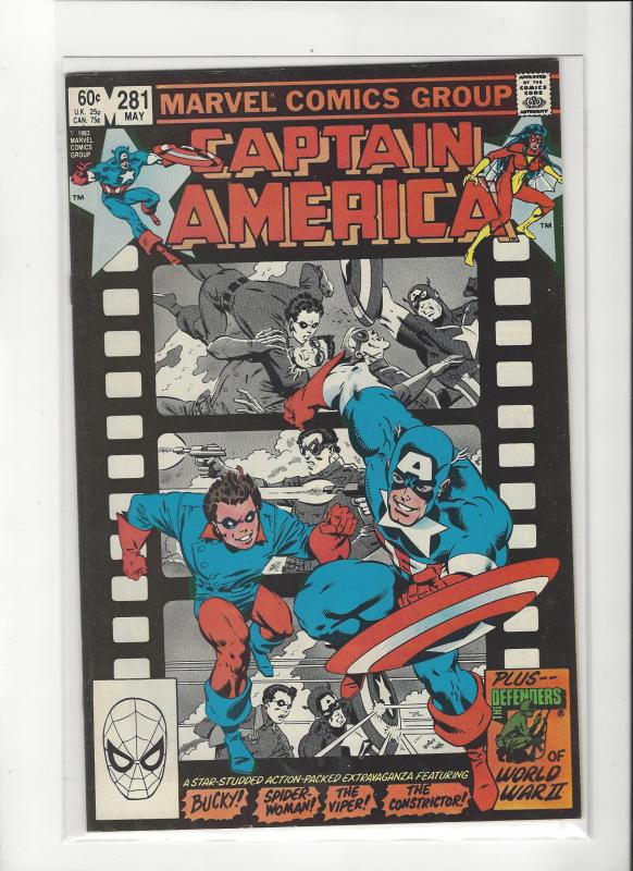 CAPTAIN AMERICA #281 SPIDER-WOMAN BUCKY VF/NM