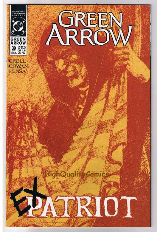 GREEN ARROW #39, NM, Mike Grell, ExPatriot, 1988, more GA in store