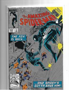 AMAZING SPIDER-MAN #265 - 2ND PRINT - VF - HTF - 1ST SILVER SABLE - COPPER AGE