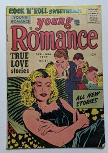 Young Romance #87 (Vol 10 No 3) May 1957, Prize G/VG 3.0 Joe Simon Cover