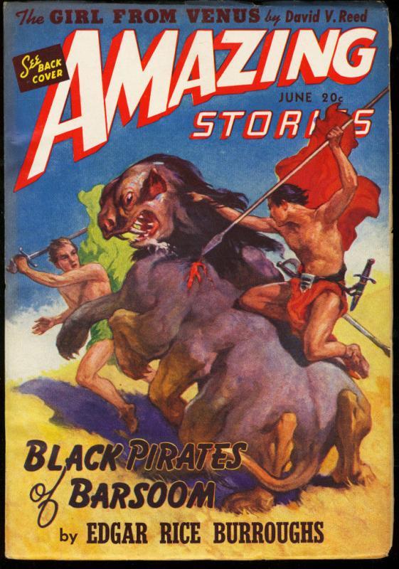 AMAZING STORIES 1941 JUN-JOHN CARTER OF MARS-PULP VF