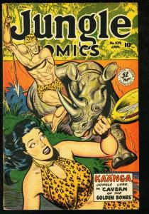 JUNGLE COMICS #109 FICTION HOUSE-BAKER ART-1949 SPICY VG/FN