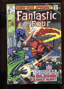 FANTASTIC FOUR ANNUAL #7  (1969)  6.0  WHITE  PAGES