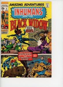 Amazing Adventures 2  F/VF 7.0 Black Widow Nice Copy