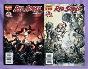 Rick Remender RED SONJA Vacant Shell One Shot 2 Covers (Dynamite, 2007)!