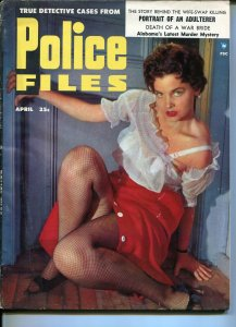 Police Files 4/1955-hot babe-John Dillinger-Baby Face Nelson-pulp crime-VG/FN