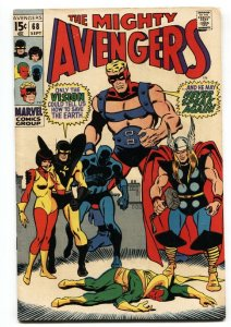 THE AVENGERS #68 comic book 1969 THOR VISION ULTRON FN/VF
