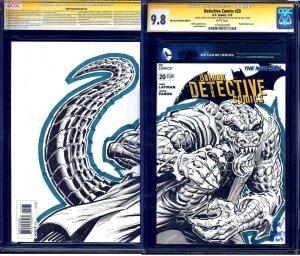 Detective Comics #20 BLANK CGC SS 9.8 signed KILLER CROC SKETCH by Rodney Ramos