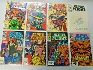 Alpha Flight lot #2 to #106 50 different books 8.0 VF (1983)