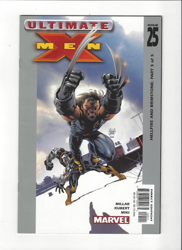 Ultimate X-Men #25 (2001) Hellfire and Brimstone Wolverine Cover NM