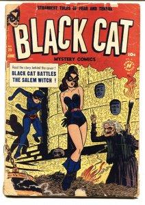 Black Cat #29 1957- Bondage cover-Horror-Golden-Age comic book