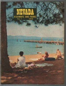 Nevada Highways & Parks #1 1956-1st issue-pictorial views of Nevada-Lake Tahoe-V