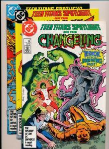 DC Comics Lot of 3 - TEEN TITANS Spotlight #7,8,9 F/VF(PF313)