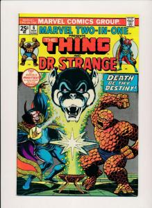 Marvel Two-in-One THE THING & DR. STRANGE Vol. 1 #6 Nov 1974 FINE (PF424)