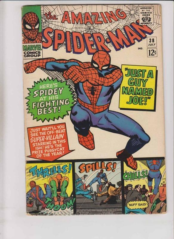 Amazing Spider-Man #38 VG- steve ditko's last issue - mary jane cameo - stan lee