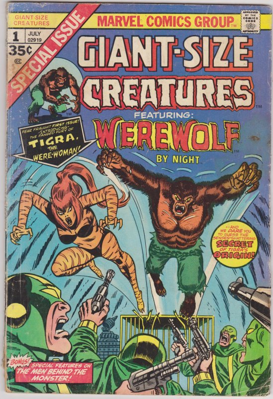 Giant Size Creatures #1 (1974)
