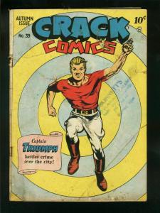 CRACK #39-1945-QUALITY-CAPTAIN TRIUMPH-HORROR PANELS