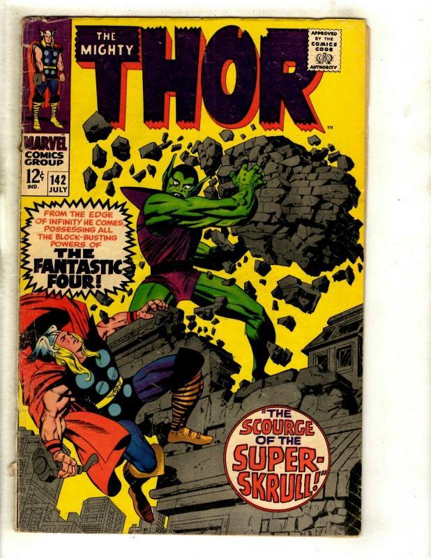 Thor # 142 VG- Marvel Comic Book Loki Odin Sif Avengers Hulk Iron Man GK4