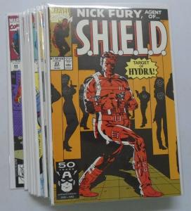 16 Different Nick Fury Agent of SHIELD (3rd Series) Set:#23-44, 8.0/VF (1991-93)
