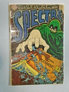 The Spectre #9 Journal of Judgment (Cover Detached at One Staple) 2.0 GD (1969)