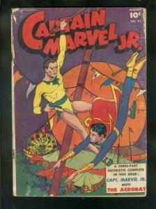 CAPTAIN MARVEL JR. #41-1946-THE ACROBAT-CIRCUS COVER-   FR/G