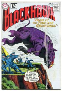 BLACKHAWK #169 1962-DC COMICS-TIMELESS CREATURE TRAP!!! G-