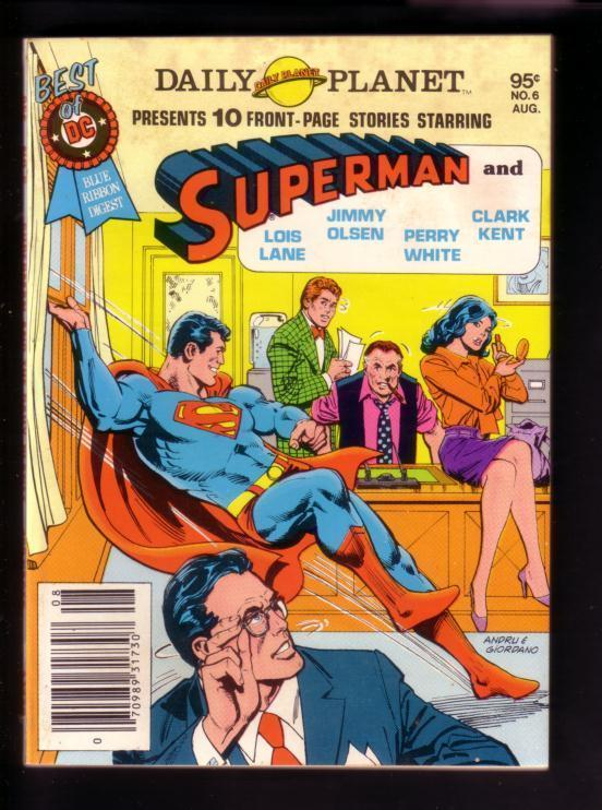 BEST OF DC #6 1980- SUPERMAN-DAILY PLANET-LOIS LANE-JIM VF-