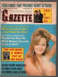 National Police Gazette 7/1975-Valerie Perrine photo cover-exploitation-scandal-