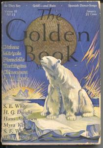 Golden Book 1/1926-Stephen Haweis cover-Charles Dickens0Booth Tarkington-VG