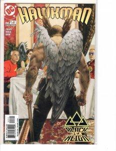 Hawkman (2002) #23 NM- (9.2) Justice Society