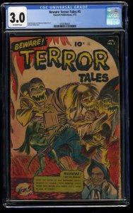 Beware! Terror Tales #5 CGC GD/VG 3.0