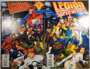 Legion of Super-Heroes #37 VG/FN Both Connecting Covers DC 2008