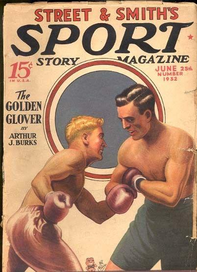 SPORT STORY 6/1932-VINTAGE BOXING COVER VG