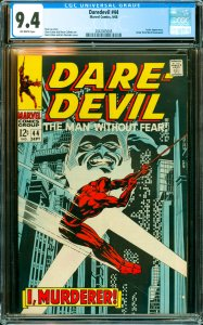Daredevil #44 CGC Graded 9.4 Jester appearance. Letter from Mark Gruenwald.