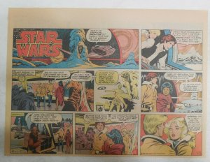 Star Wars Sunday Page #46 by Russ Manning from 1/20/1980 Large Half Page Size!