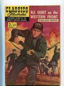 Classics Illustrated  95  VG All Quiet on the Western Front 1B Edition