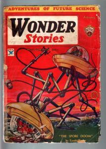 WONDER STORIES 1934 FEB-WAR OF THE WORLDS STYLE CVR FR/G