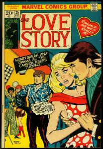 OUR LOVE STORY #25 1973-DON HECK COVER-MARVEL ROMANCE FN